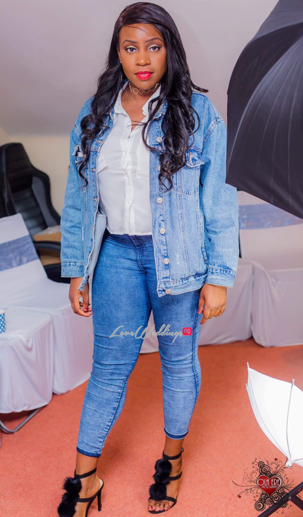 Nigerian Denim Themed Bridal Shower Adiat Friend LoveWeddingsNG 2