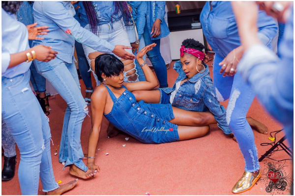 Nigerian Denim Themed Bridal Shower Adiat Friends LoveWeddingsNG 1