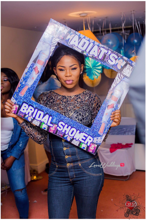 Nigerian Denim Themed Bridal Shower Adiat Insta Photo Frame LoveWeddingsNG 1