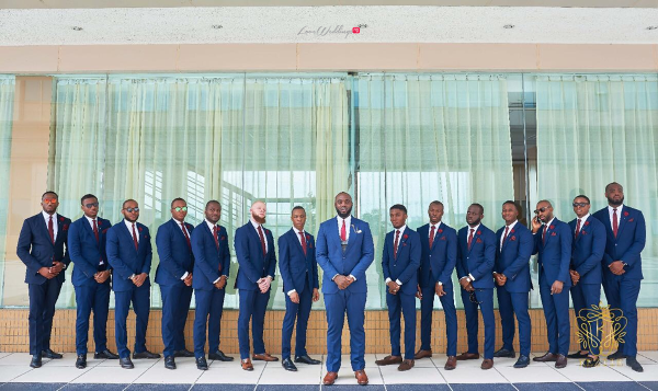 Nigerian Groom and Groomsmen Wanni Fuga and Sam Wabara LoveWeddingsNG