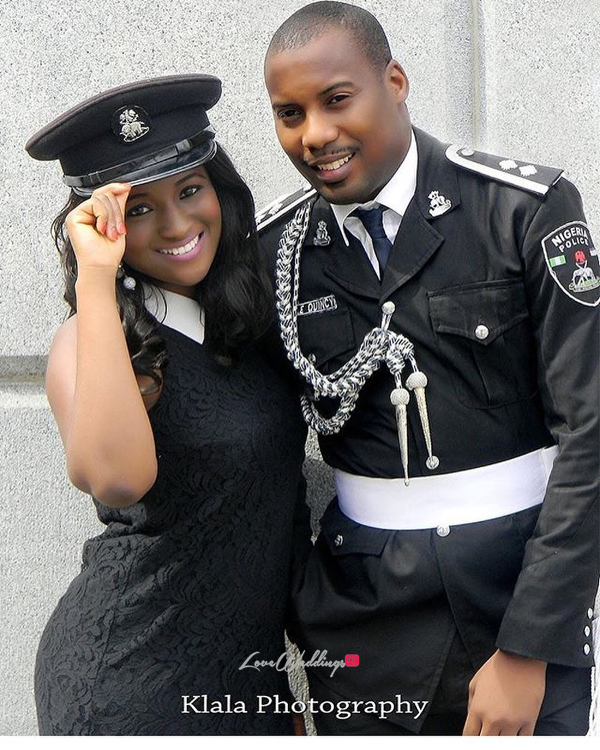 Nigerian PreWedding Shoots We Love Simi & the police officer #Slcole2017 Klala Photography LoveWeddingsNG
