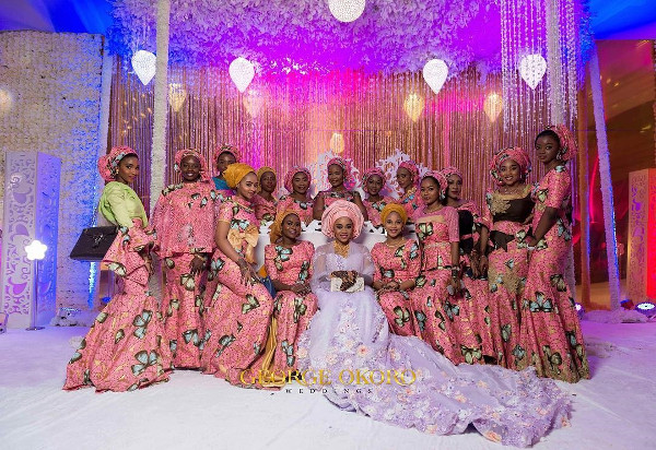 Nigerian Traditional Bride and Aso Ebi Ladies - George Okoro LoveWeddingsNG