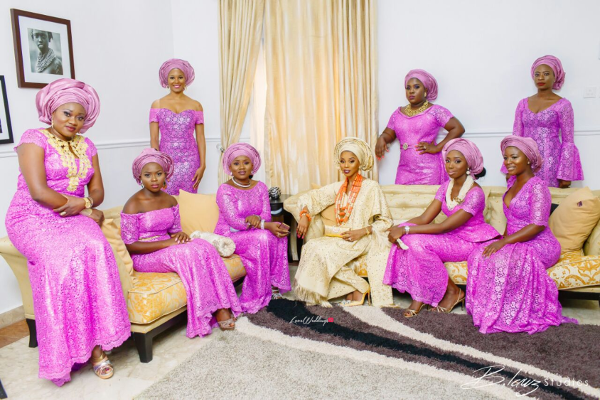 Nigerian Traditional Bride and Aso Ebi Ladies #TigeradoresAbby Trendybee Events LoveweddingsNG
