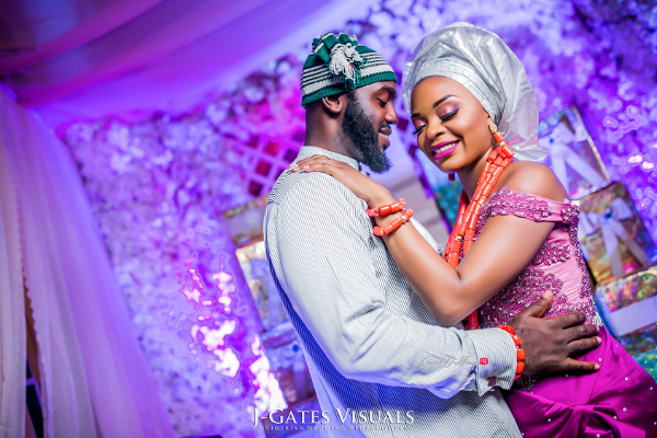 Nigerian Traditional Bride and Groom Wanni Fuga and Sam Wabara LoveWeddingsNG 1