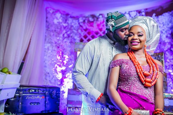Nigerian Traditional Bride and Groom Wanni Fuga and Sam Wabara LoveWeddingsNG