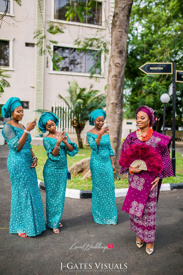 Nigerian Traditional Bride and friends Wanni Fuga and Sam Wabara LoveWeddingsNG