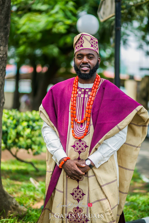 Nigerian Traditional Groom Sam Wabara and Wanni Fuga LoveWeddingsNG