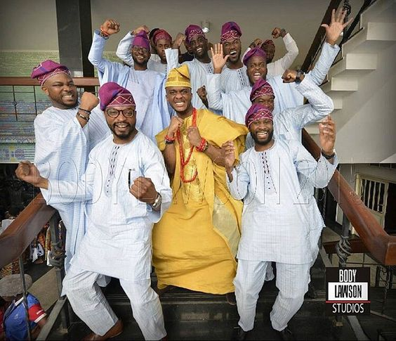 Nigerian Traditional Groom and Groomsmen Body Lawson Studios LoveWeddingsNG