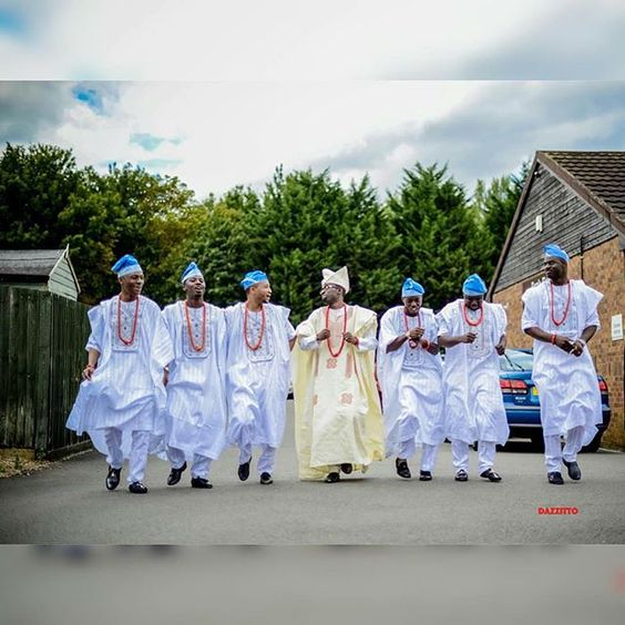 Nigerian Traditional Groom and Groomsmen Dazzito Photography LoveWeddingsNG