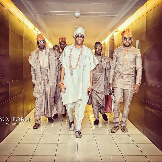 Nigerian Traditional Groom and Groomsmen SC George Weddings LoveWeddingsNG