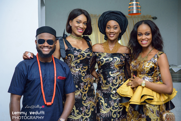 Nigerian Traditional Wedding Guests Aso Ebi Dr. Chioma & Dr. Onyedika Lemmy Vedutti Photography LoveWeddingsNG 2