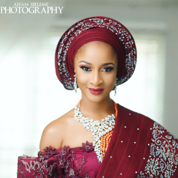 Adesua Etomi Banky W Introduction - Adesua Makeup T.A'La Mode Makeup Aham Ibeleme Photography LoveWeddingsNG