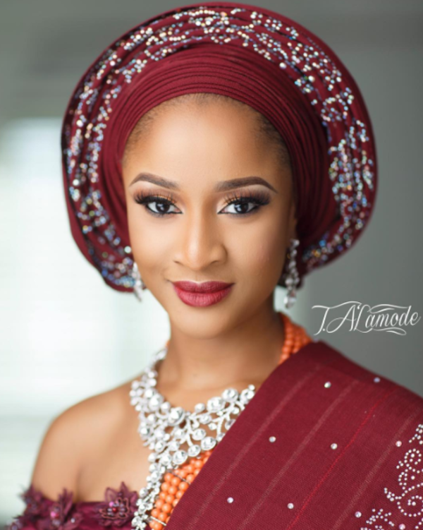 Adesua Etomi Banky W Introduction - Adesua Makeup T.A'La Mode Makeup LoveWeddingsNG