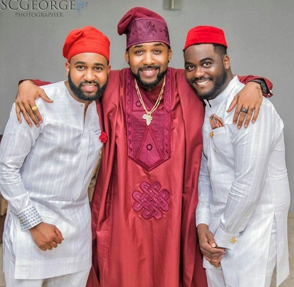 Adesua Etomi Banky W Introduction #BAAD2017 - Groom and brothers LoveWeddingsNG