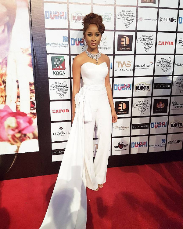 Adesua Etomi Nigerian Bridal Jumpsuit Inspiration LoveWeddingsNG 1
