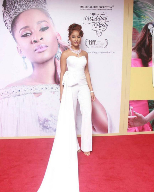 Adesua Etomi Nigerian Bridal Jumpsuit Inspiration LoveWeddingsNG