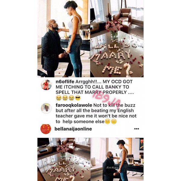 Adesua Etomi and Banky W Engagement Story Memes LoveWeddingsNG Cant spell Marry
