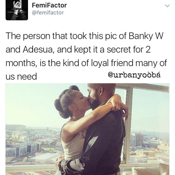Adesua Etomi and Banky W Engagement Story Memes LoveWeddingsNG Loyal friend