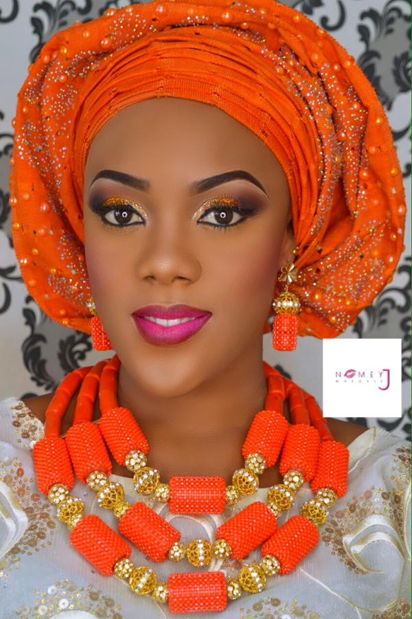 Traditional Wedding Makeup Pictures : Makeup and gele: Nomey J Makeovers Beads: @moyindaves ...