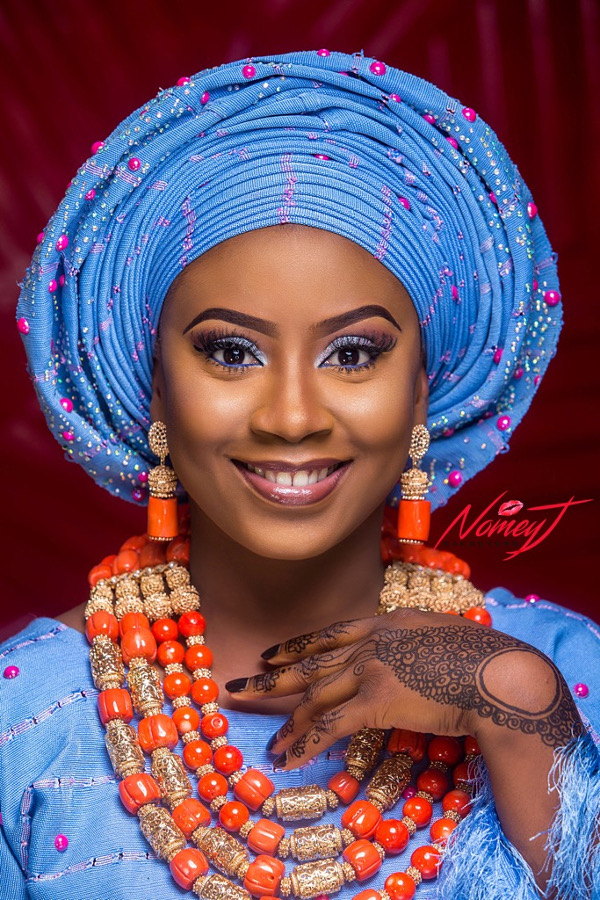 Makeup and gele: @nomey_jmakeovers Bride: @lizzy_bamby ...