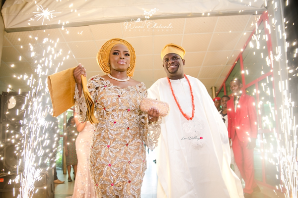 Nigerian Traditional Bride and Groom walking into the reception Wani Olatunde Photography LoveWeddingsNG
