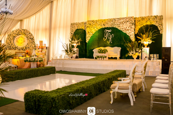 What we loved about temi kehindes green nigerian wedding the hedge grass dancefloor at their traditional wedding temi kehinde had a hedge grass dance floor designed by virgo designs junglespirit Choice Image
