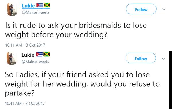 ng tube weight loss wedding bride