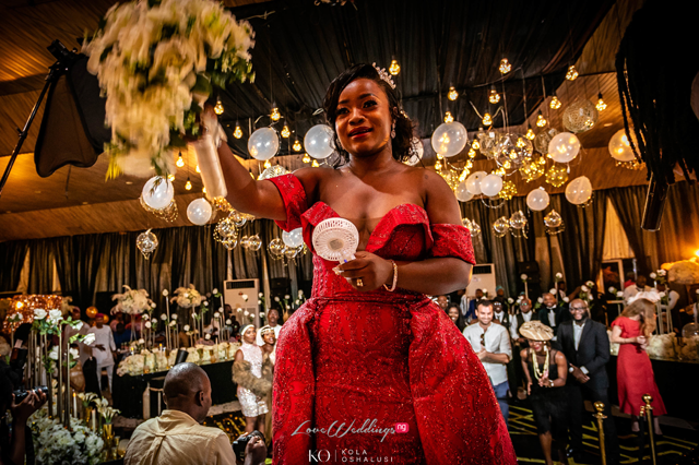 The portable rechargeable hand fan is the Nigerian bride's latest accessory