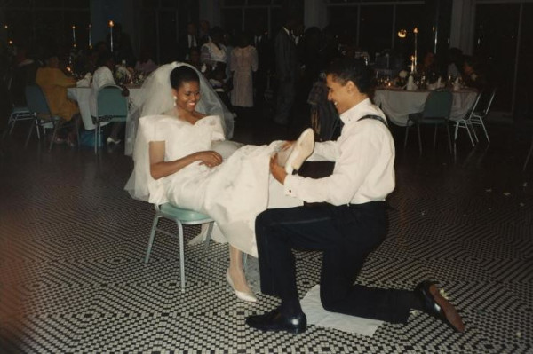 Happy 26th wedding anniversary to the Obamas