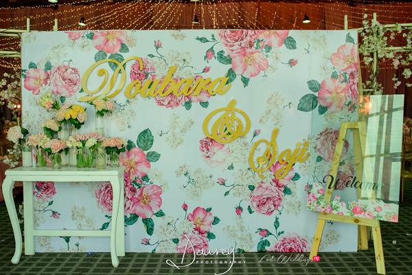 We love this floral themed reception decor by Events by Claud