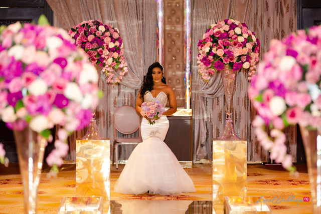 Nqobile, Gabrielle & Adri are black, gold & all shades of purple in this bridal shoot