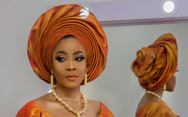 Orange is the new black for Nigerian traditional brides