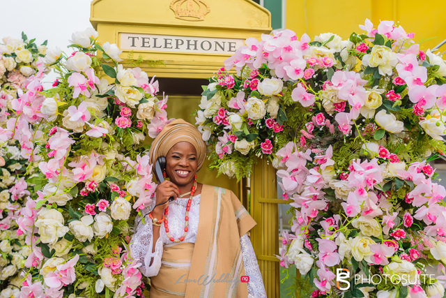 The floral telephone photo booth that is taking over African weddings