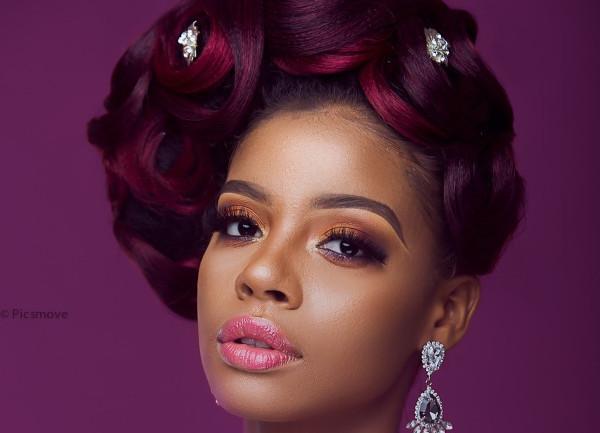 Red Ombre Bridal Hair Inspiration | Uber Glow x Hair Empire Naija x Pics Move Studio