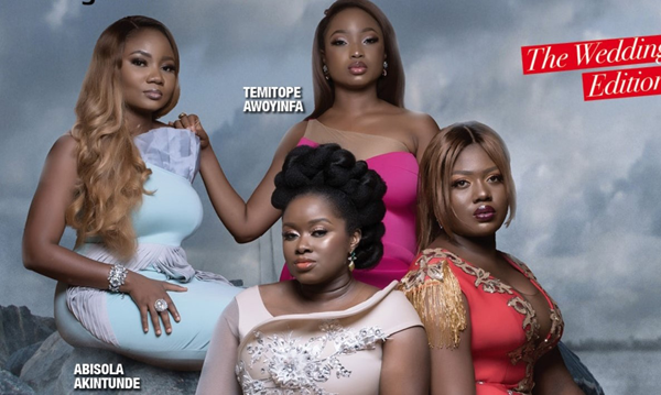 Bisola (Makeup by Ashabee), Temi (Lavish Bridals) & the Bridal Glam Squad cover Vanguard Allure's wedding issue