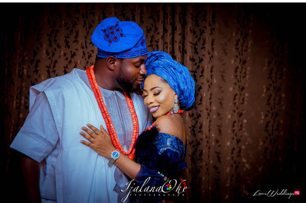 Yomi & Abayomi's Traditional Wedding Portraits are beautiful | #Ayomi19