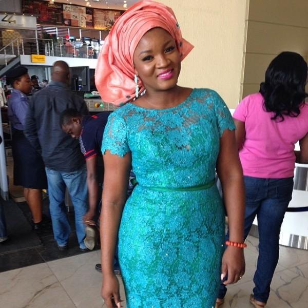Paul Okoye and Anita Isama Traditional Wedding - Omotola Jalade Ekeinde in Foradora Fabrics