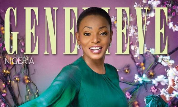Ruth Osime covers Genevieve Magazine's April 2014 Cover