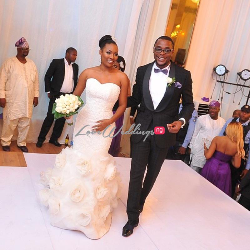Hadiza Raisa Okoya weds Olamijuwonlo Alao-Akala Loveweddingsng1