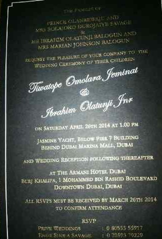 Tiwa Savage Teebillz Dubai Wedding Loveweddingsng4