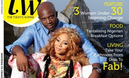 Newly-weds Toke Makinwa & Maje Ayida cover TW Magazine's March 2014 Issue