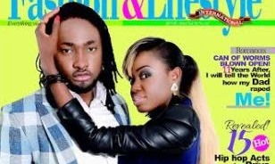 Uti Nwachukwu & girlfriend – Saeon cover City People Fashion & Lifestyle's June 2014 edition