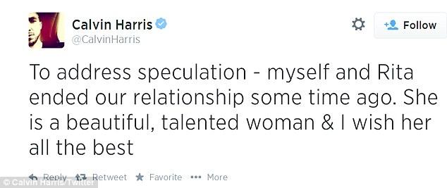 Calvin Harris Rita Ora Loveweddingsng tweet