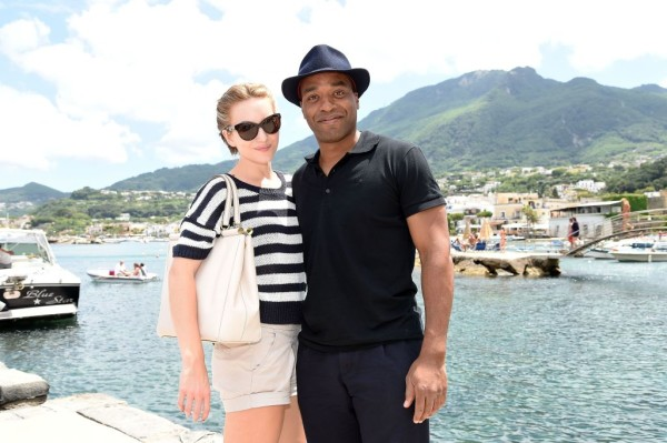 Chiwetel Ejiofor & Girlfriend Sari Mercer spotted on a Yacht in Ischia