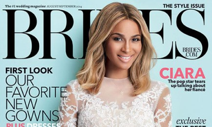 Bride-to-be Ciara covers Brides Magazine's Style Issue
