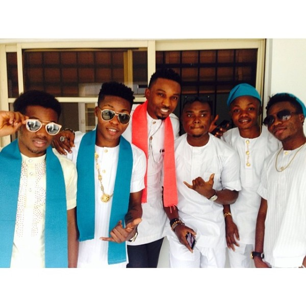 Dr Sid Simi Osomo Traditional Wedding Loveweddingsng - Korede Bello, Reekado Banks, Altims
