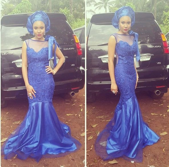 Jude Okoye Ifeoma Umeokeke Aso Ebi Loveweddingsng - Anna Ebiere