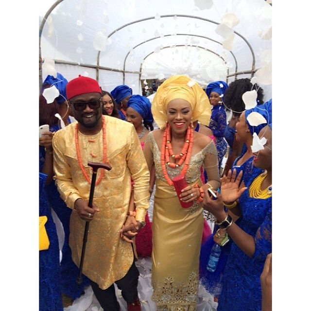 Jude Okoye Ifeoma Umeokeke Traditional Wedding Loveweddingsng - couple