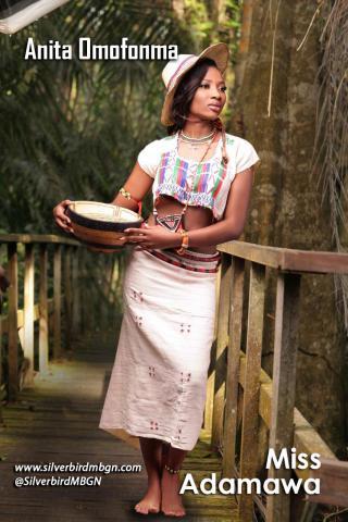 MBGN 2014 Miss Adamawa - Anita Omofonma Nigerian Traditional Outfit Loveweddingsng