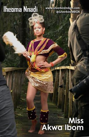 MBGN 2014 Miss Akwa Ibom - Iheoma Nnadi Nigerian Traditional Outfit Loveweddingsng